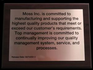 Moss Inc信条